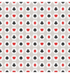 seamless background of card suits vector image vector image