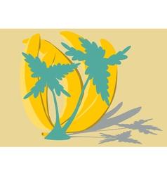 Banana trees vector image vector image