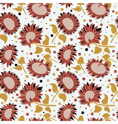 beautiful colorful sunflowers seamless pattern vector image vector image