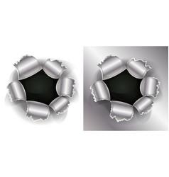 bullet and shotgun hole vector image