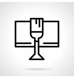Celebratory drink black simple line icon vector image vector image
