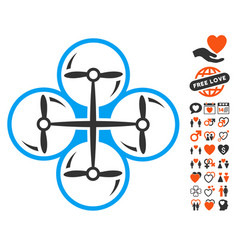 drone screws icon with dating bonus vector image vector image