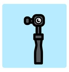 flat color action camera icon vector image