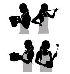 girl in the kitchen2 vector image