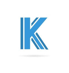 Logo K letter for company design template vector image vector image