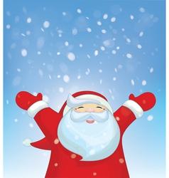 santa snowfall vector image