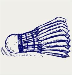 Sketch badminton ball vector image