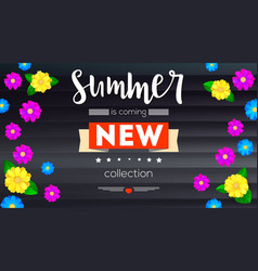 Summer new collection banner background black vector