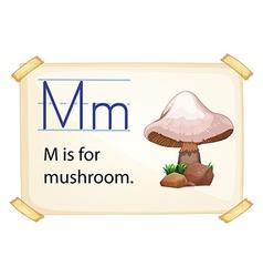 A letter m for mushroom vector