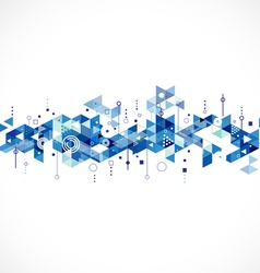 Abstract creative blue triangle template vector