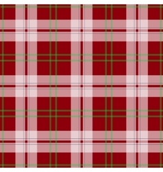 abstract red tartan christmas seamless vector image