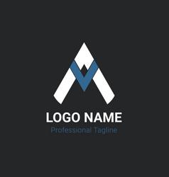 Am logo design letter a logo m letter design ve vector