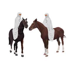 arabian riders vector image
