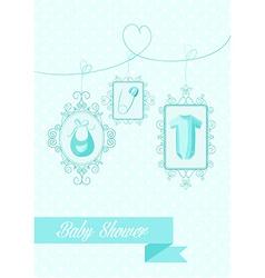 baby shower boy hanging elements vector image