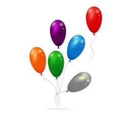 balloons bunch vector image