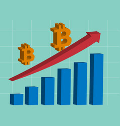 bitcoin growing advertisement banner vector image