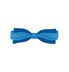 bright blue bow butterfly tie cute accessory for vector image