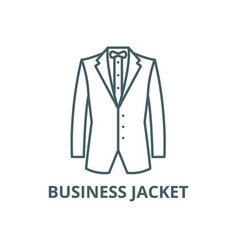 Business jacket line icon business jacket vector