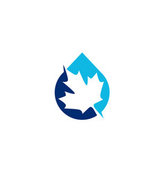 canada canadian pure water logo icon vector image