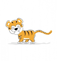 Cheerful tiger vector