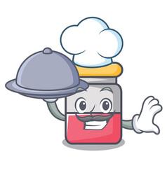 Chef with food nassal drop mascot cartoon vector