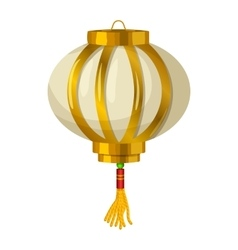 Chinese paper lantern icon in cartoon style vector image