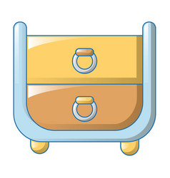 clothes drawers icon cartoon style vector image