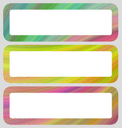 Colored digital art rounded shaped banner set vector