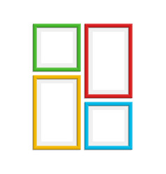Colored photo frame set vector