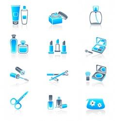 Cosmetics icons marine series vector