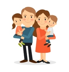 Couple with children vector