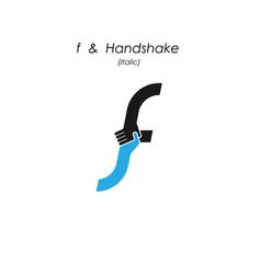 Creative f- letter icon abstract logo design vector