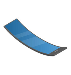 Curve flexible display icon isometric style vector