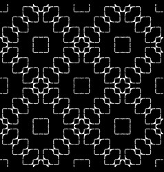 Design seamless monochrome grid pattern vector
