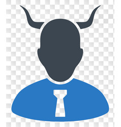 Devil icon on chess transparent background vector