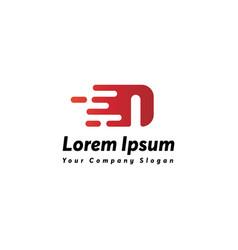 Fast letter i logo icon design vector