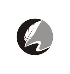 Feather pen logo vector