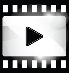 film strip icon with play sign vector image
