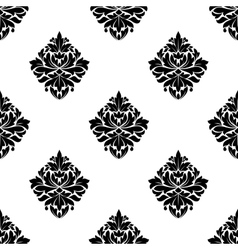 Floral arabesque motifs seamless pattern vector