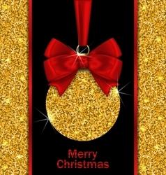 Glitter Card with Christmas Ball vector