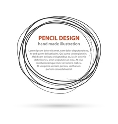 Hand drawn black line circles logo design with vector