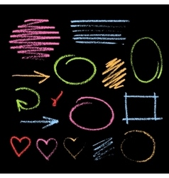 Handdrawn chalk sketch vector