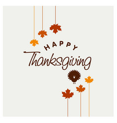 Happy thanks giving day design vector