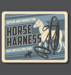 horse sport horserace equipment shop vector image