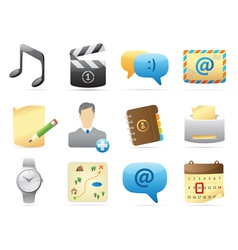 Icons for interface vector image