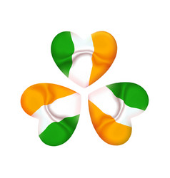 ireland st patrick day icon clover with irish vector image