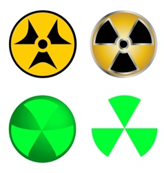 Isolated Symbols of Radiation vector image