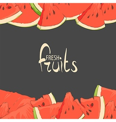 Juicy watermelon vector