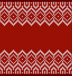 Knitwear template with place for text seamless vector
