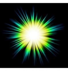 light sparkle with rainbow colours vector image
